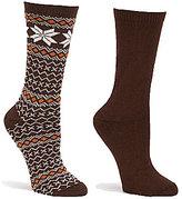 Hue Fairisle-Tipped Boot Socks 2-Pack