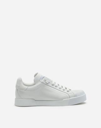 Dolce & Gabbana Portofino Sneakers In Nappa Leather And Rubber Toe-Cap