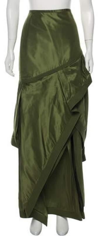 Johanna Ortiz Silk Maxi Skirt Green Silk Maxi Skirt