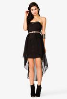 Forever 21 Layered Strapless Scuba Dress
