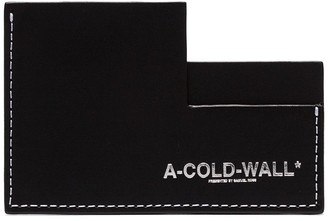 A-Cold-Wall* Black Logo Leather Cardholder