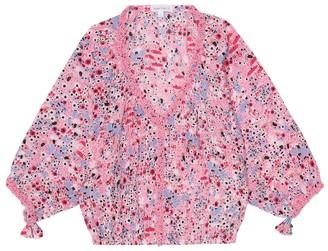 Poupette St Barth Kids Ariel floral blouse