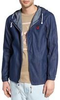 Altru Men's Flower District Hooded Zip Denim Jacket