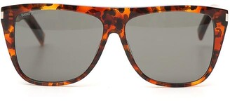 Saint Laurent Eyewear Leopard Side Logo Sunglasses