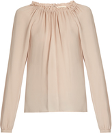 Rebecca Taylor Ruffled-neckline silk blouse