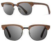 Shwood 'Eugene' 54mm Wood Sunglasses