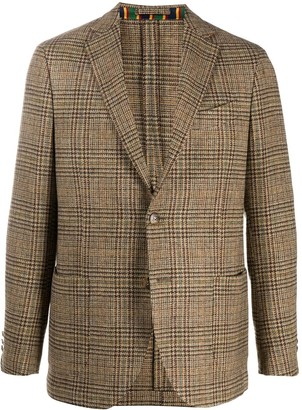 Etro Plaid Check Blazer