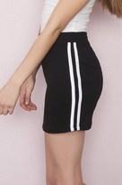 Garage Soft A-Line Sport Stripe Skirt