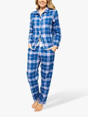 Cyberjammies Eliza Check Pyjama Set, Blue