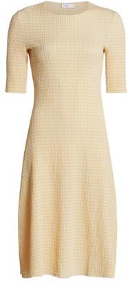 Rosetta Getty Seersucker A-Line Dress