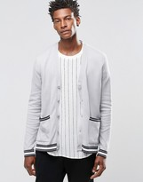 Asos Cardigan With Stripes on Sleeve