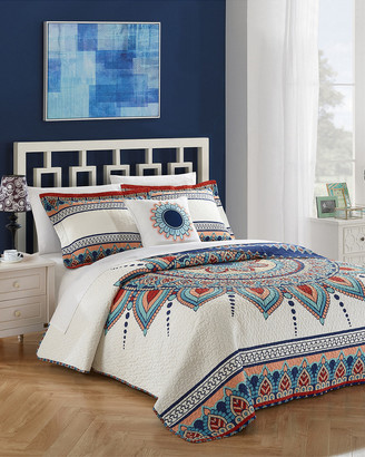 Chic Home 4Pc Yucca Boho Reversible Quilt Set