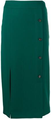 Victoria Victoria Beckham Button-Front Pencil Skirt