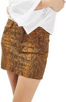 Topshop Women's Snake Print Miniskirt