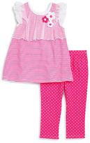 Kids Headquarters Girls 2-6x Girls Striped Tunic and Polka Dot Pants Set