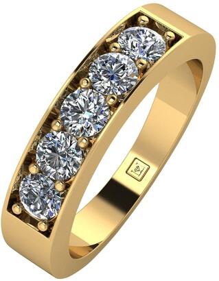 Moissanite Lady Lynsey 9ct Gold 1ct total 5 Stone Eternity Ring