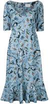 Erdem - embroidered flared midi dress