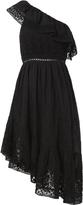 LOVESHACKFANCY Pamela One Shoulder Ruffle Dress