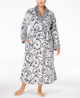 Charter Club Plus Size Embossed Scroll Long Robe, Only at Macy's