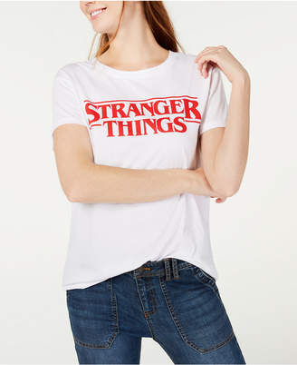 Love Tribe Juniors' Stranger Things Logo Graphic T-Shirt