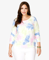 Forever 21 Tie-Dye French Terry Pullover