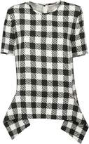 Victoria Beckham Oversized Gingham Checkered Blouse