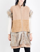 Stella McCartney Faux-fur trim wool gilet