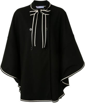 RED Valentino Bow-Detail Double-Breasted Cape