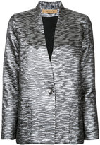 Maison Olga - metallic blazer - women - Cotton/Polyester/Viscose/Metallized Polyester - 0