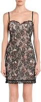 La Perla Daily Looks Black and Pink Embroidered Lace Dress w/Built-in Bra