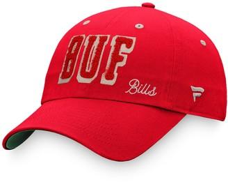 Women's Fanatics Branded Red Buffalo Bills True Classic Scoreboard Adjustable Hat