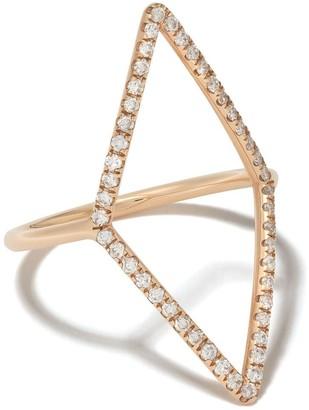 Diane Kordas 18kt Yellow Gold Diamond-Shaped Diamond Ring