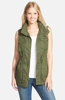 Pleione Petite Women's Cotton Twill Military Vest
