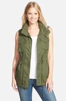 Pleione Women's Cotton Twill Military Vest