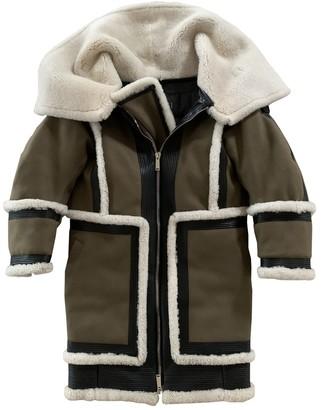 DSQUARED2 Khaki Shearling Coat for Women