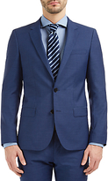 Hugo Boss Hugo By Hugo Boss C-huge Virgin Wool Pindot Weave Suit Jacket, Bright Blue