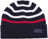 Saint Laurent Striped Knitted Beanie