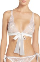 Fleur of England Tie Front Triangle Bralette