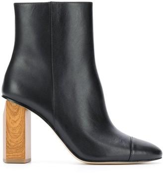 MICHAEL Michael Kors Wooden Heel 90mm Ankle Boots