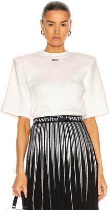 Off-White Shoulder Pad T-Shirt in White & Black | FWRD