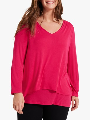 Studio 8 Joy Double Layer Top, Hot Pink