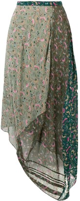 Chloé Asymmetric Floral Print Skirt