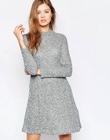 B.young Long Sleeve Swing Dress