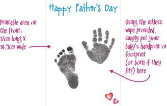 Your Own BabyRice Make Father's Day Card Baby Handprint & Footprint Kit Son Daughter Prints