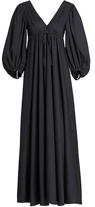 STAUD Amaretti Balloon-Sleeve Dress