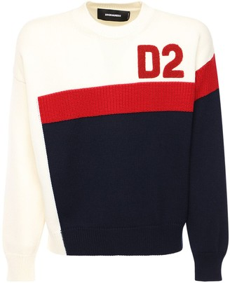 DSQUARED2 Logo Wool Knit Sweater