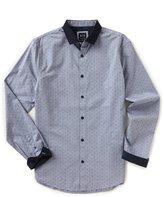 Armani Exchange Dot Print Long-Sleeve Woven Shirt