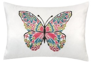 Homey Cozy Emilia Embroidery Rectangle Decorative Throw Pillow