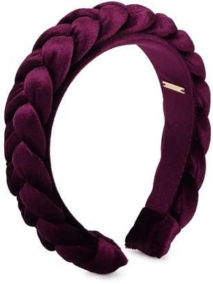 BaubleBar Kimberly Burgundy Velvet Headband