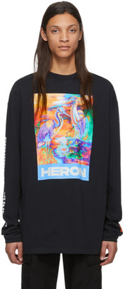 Heron Preston Black Heron Colors Long Sleeve T-Shirt